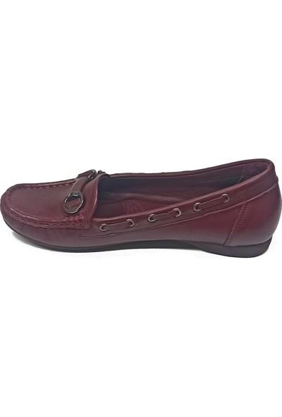 Mammamia DYA765 Deri Anatomik Kadın Babet Ayakkabı
