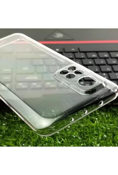 Semers Infinix Note 8 Kamera Korumalı Tıpalı Şeffaf Silikon Kılıf