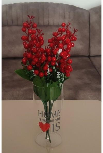 Moda Feneri Cam Vazolu Çiçek Set 2