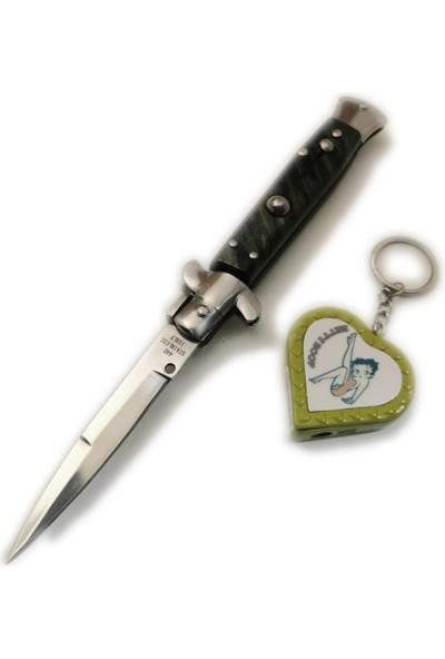 Akc 21 cm Italyan Stiletto Otomatik Çakı Bıçak Jobon Çakmaklı