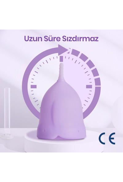 Mothersmart femometer® Adet Kabı - Medikal Sınıf Silikon Menstrual Cup / Regl Kabı (A Size)