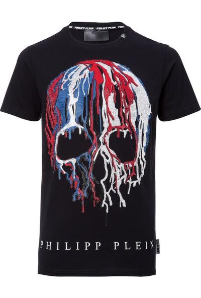 Philipp Plein Erkek T-Shirt Siyah Renk - Size Medium