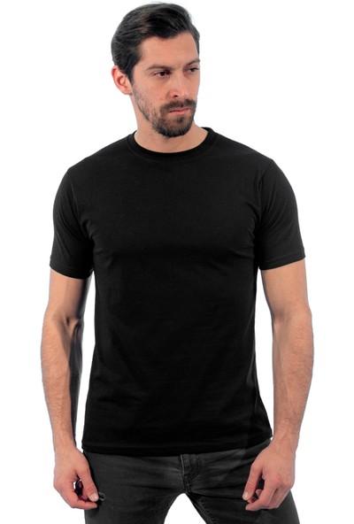 Sıfır Yaka Tişört, Siyah (112E450) Bisiklet Yaka Tshirt, T-shirt