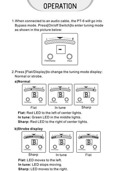Nux Pt-6 Kromatik Tuner Pedalı Düz ve A4 Tuning LED (Yurt Dışından)