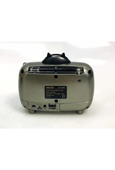 Meier M-V16BT Fm Radyo Taşınabilir Standlı Bluetooth Hoparlör Radyo Kanal Kayıtlı