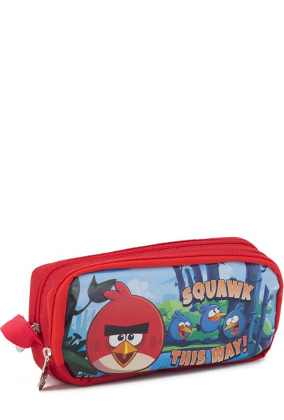 Hakan Çanta Lisanslı Angry Birds Karakterli Çift Gözlü Kalemlik Kutusu