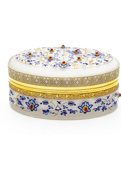 Müzeden Al Mücevher Kutusu Cam Çini Koleksiyonu 8,5 cm