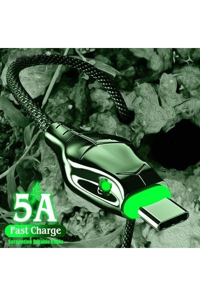Judas A8 Çoklu Şarj Adaptörü + 5A Cobra Style Type-C Şarj Kablosu - 2mt