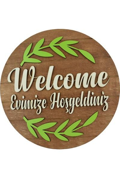 Hoşgeldiniz Welcome Kapı Süsü Ahşap