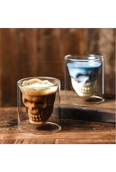 Escobarista Kuru Kafa Temalı Skull Shot Bardak 75 ml