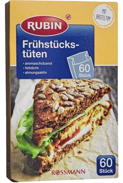 Rubin Sandviç Poşeti - Kağıt 12,5 cm + 6,5 cm (Körük) x 20 cm 60'lı