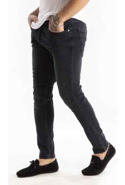 Deepsea Antracite Erkek Arka Cep Pileli Likralı Kot Pantolon 2102002