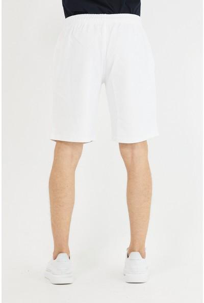 Tarz Cool Erkek Beyaz Regular Fit Şort & BERMUDA-KSSORT001R09S