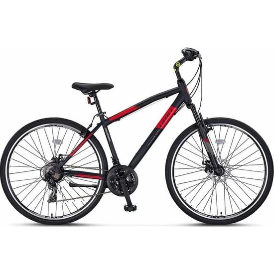 Ümit Quebec 28 J Trekking Bisiklet Md Fren 46 cm 21V Siyah-Krmz