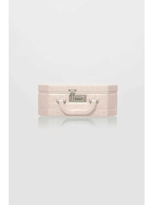 Pierre Cardin 560 Inci Deri Şifreli Aynalı Makyaj & Tıraş Kutusu