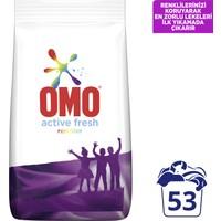 Omo Active Fresh Toz Çamaşır Deterjanı Renkliler Renklilerinizi Koruyarak En Zorlu Lekeleri İlk Yıkamada Çıkarır 8 KG 53 Yıkama 1 Adet