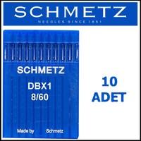 Schmetz Dbx1 Ses Serv 7 Düz Makinesi Iğnesi 8/60 Numara