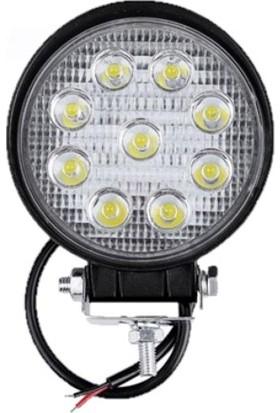 Hilal Shops 9 LED Yuvarlak Off Road Sis Farı Sis Lambası - Çalışma Lambası