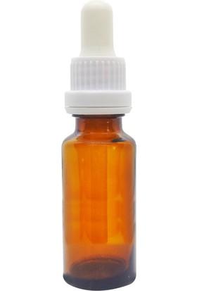 Camcazım 20 cc Plastik Damlalıklı Amber Şişe - Ecza Şişesi - 100 Adet