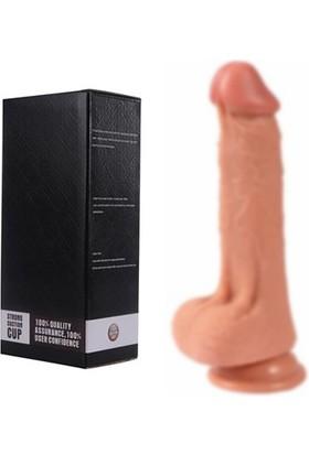 Xise Alexis 20 Cm Uzunluğunda Güçlü Vantuzlu Kalın Penis Dildo