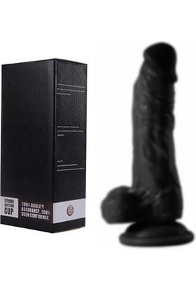 Xise Bulish 17 Cm Zenci Realistik Güçlü Vantuzlu Lüks Dildo Penis