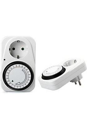 Cata Zaman Saati Zaman Ayarlı Mekanik Ayarlanabilir Priz CT-9180