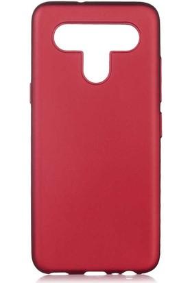 Canpay Lg K41S Kılıf Yumuşak Pürüzsüz Esnek New Style Case Esnek Bordo