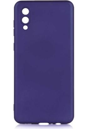Canpay Samsung Galaxy A02 Kılıf Yumuşak Pürüzsüz Esnek New Style Case Esnek Lacivert