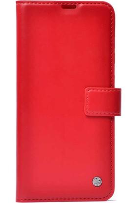 Canpay Samsung Galaxy Note 20 Ultra Kapaklı Kılıf Cüzdan Stand Mıknatıslı Kapatma Kopçası Kırmızı