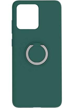 Canpay Samsung Galaxy S20 Ultra Kılıf Magnet Yüzük Standlı Yumuşak ve Pürüzsüz Koyu Yeşil