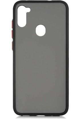 Canpay Samsung Galaxy A11 Kılıf Tpu Color Series, Mat Yumuşak Silikon Siyah