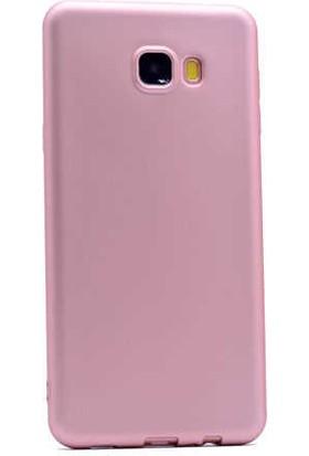 Canpay Samsung Galaxy C5 Kılıf Yumuşak Pürüzsüz Esnek New Style Case Esnek Rose Gold