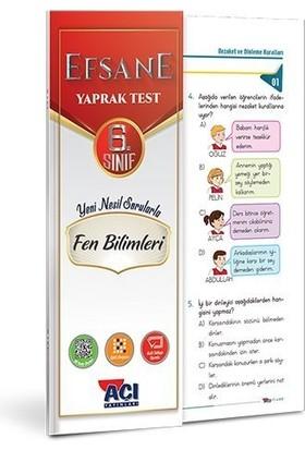 Açı Yayınları 6. Sınıf Efsane Fen Bilimleri Yaprak Test