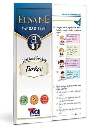Açı Yayınları 8. Sınıf Efsane Türkçe Yaprak Test