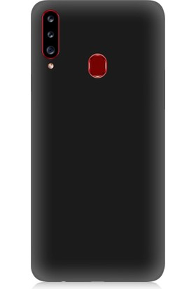 Teknomeg Samsung Galaxy A20S Uyumlu Içi Kadife Soft Lansman Silikon Kılıf