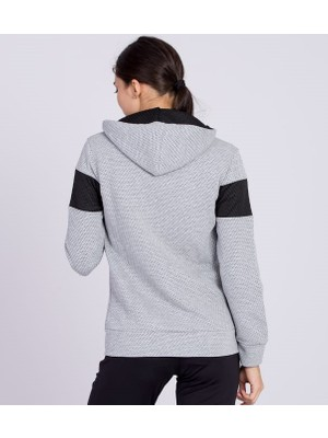 Nike Gri Renk Kapüşonlu Tam Fermuarlı Petek Kumaş
