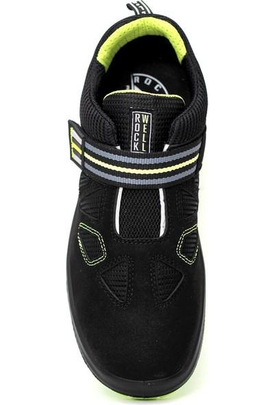 Rockwell Mangan Kompozit Burun Iş Ayakkabısı Siyah S1P