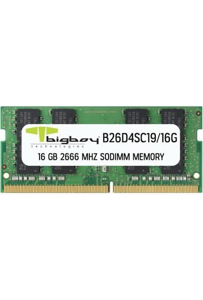 Bigboy 16GB 2666MHZ C19 Ddr4 B26D4SC19/16G Notebook Bellek