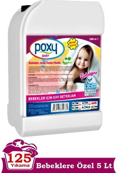 Poxy Bebeklere Özel Sıvı Çamaşır Deterjanı 5 Lt (125 Yıkama)