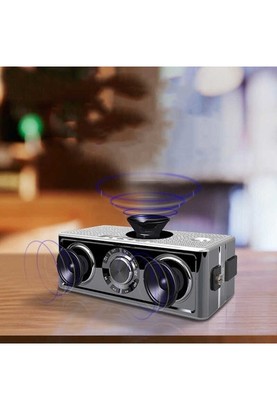 Mobaxaksesuar Bluetooth Speaker Hoparlör Sd USB Aux Göstergeli Soaiy S18