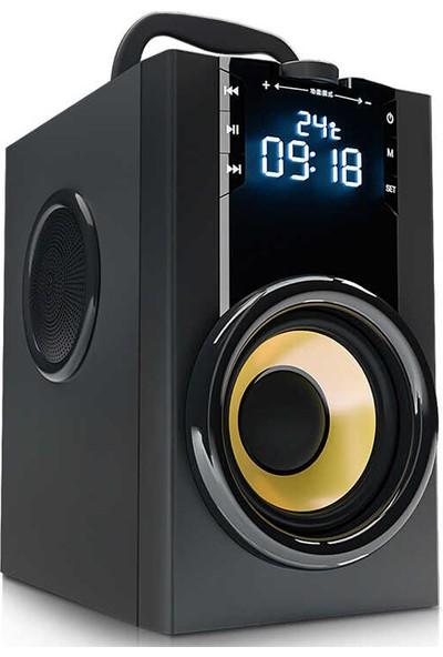 Mobaxaksesuar Bluetooth Speaker Hoparlör Mikrofon Saat Alarm Sıcaklık Sd USB Aux Soaiy SA-Q32S
