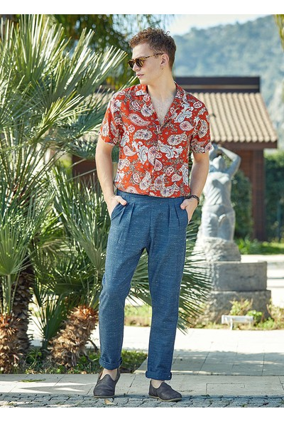 Clandestino Normal Bel Tapered Fit Pantolon Lacivert