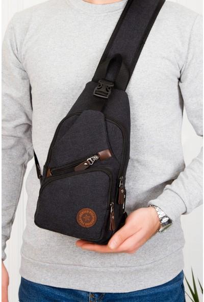 Av A Dos Unisex Kanvas USB Kulaklık Çıkışlı Çapraz Askılı Bel Omuz Çanta