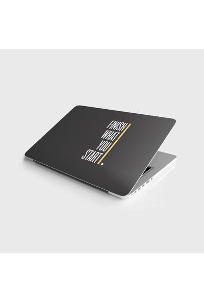 Sticker Art Laptop Sticker Notebook Pc Kaplama Etiketi Başladığın Işi Bitir
