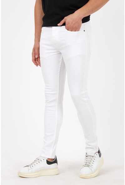 Las Vegas Beyaz Renk Erkek Kot Pantolon