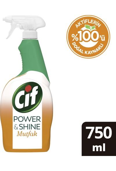Cif Power & Shine Sprey Temizleyici Mutfak Yağ Çözücü 750 ML 1 Adet