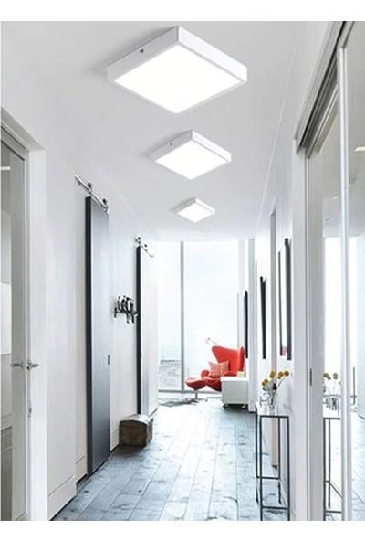 Infoled 12W LED Sıva Üstü Kare Model Panel Armatür Beyaz