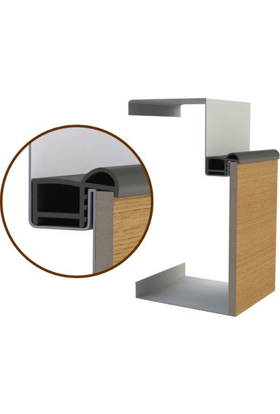 Contacall Çelik Kapı Contası-Fitili 6 Metre Beyaz Renk Çelik Kapı Kasa Contası Ürün Kodu-Çlk-03