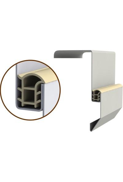 Contacall Çelik Kapı Kasa Fitili Beyaz Renk 6 Metre Çelik Kapı Kanat Contası Fitili Ürün Kodu-Çlk-36