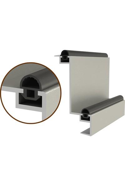 Contacall Çelik Kapı Fitili Gri 6 Metre Alüminyum Kapı Kasa Kanat Fitili Ürün-Koduatn-11